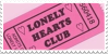 Lonely Hearts Club Ticket Stamp by Gay-Mage-Of-Space
