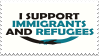 I Support Immigrants and Refugees Stamp by Gay-Mage-Of-Space