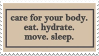 Care For Yourself Stamp