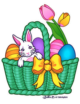 Vector - Easter Basket by firstfear