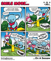 New Webcomic: Smile More On A Seesaw by RealSmilingBear