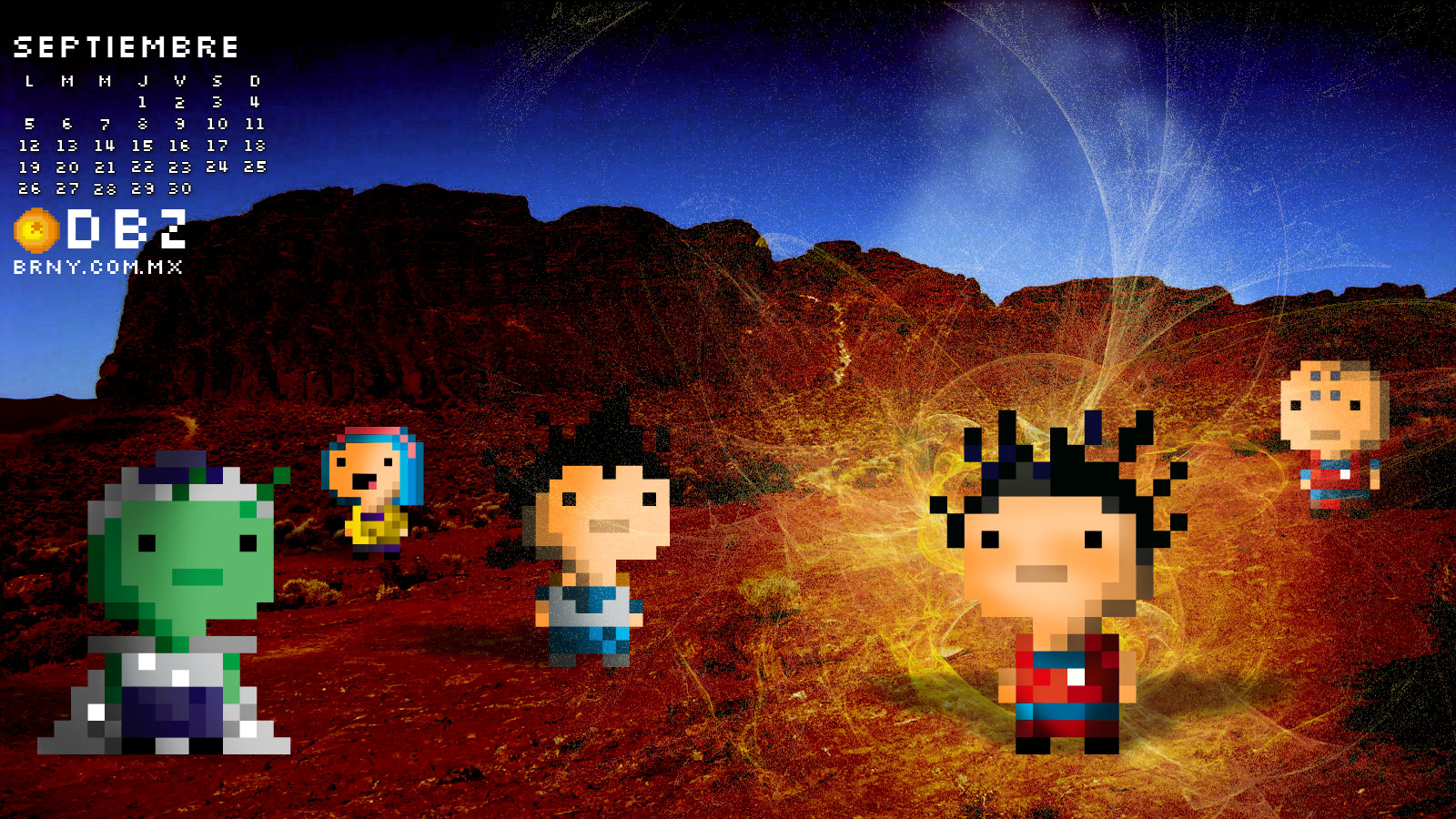Dragon Ball Z pixel-art by berny59