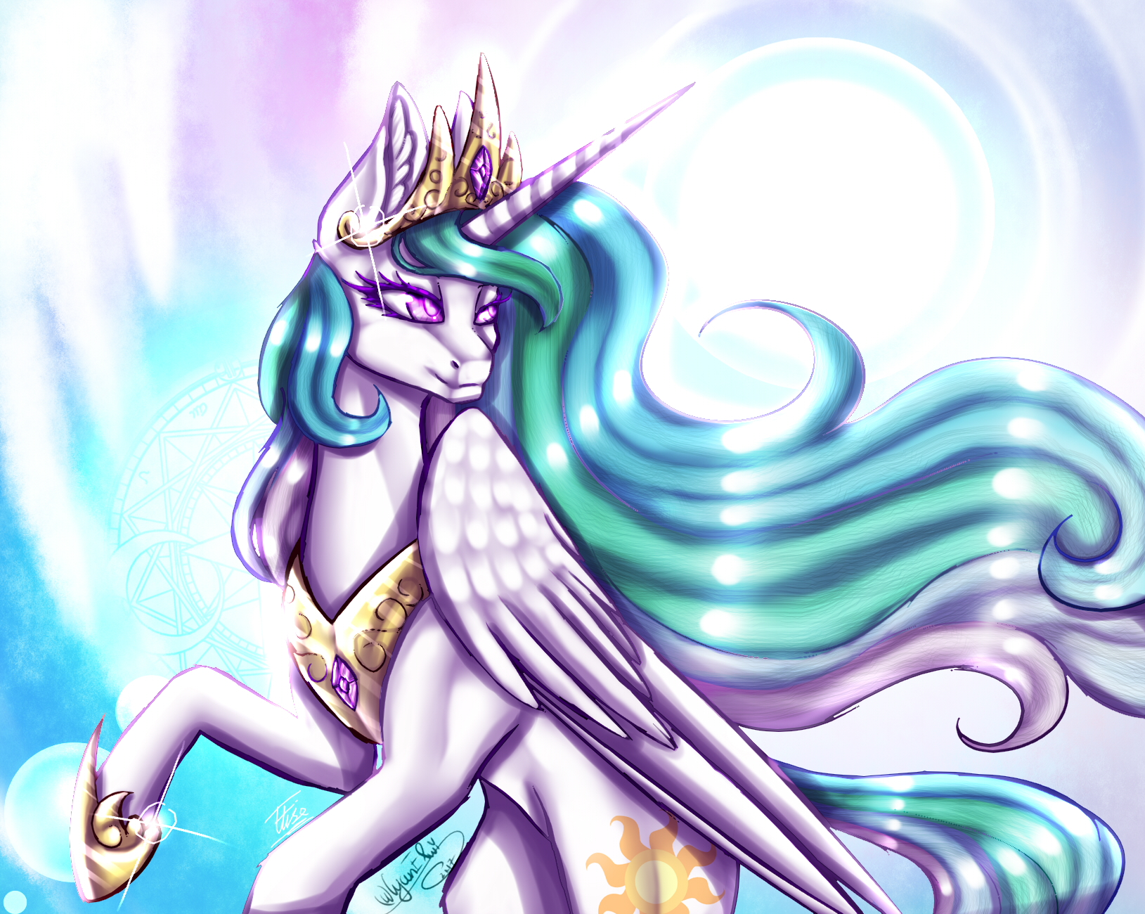 Princess Celestia :Collab: by InspiredPixels