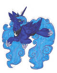Traditional Princess Luna by InspiredPixels