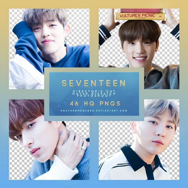 SEVENTEEN NAVER x DISPATCH Director's Cut Png pack by RoxyNeonColors