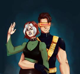 Commission: Scott/Rogue by boundbyartt