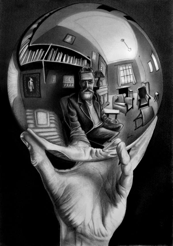 Escher's Hand with a Reflecting Sphere by SaraMohammadAbbas