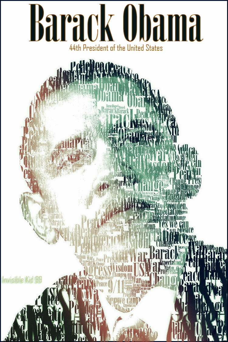 Barack Obama Typography by Invisible99