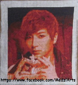 cross stitched Leeteuk (Super Junior) by Lalla9