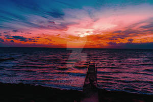 Bright sunset.