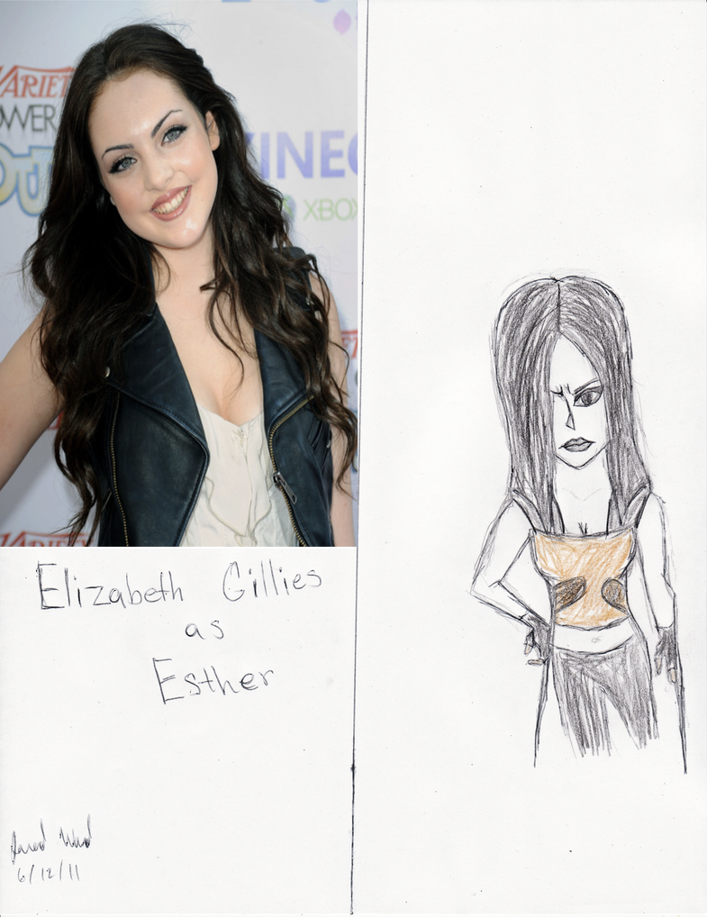 elizabeth gillies black hair