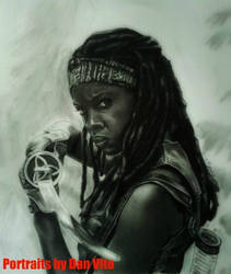 Michonne Sketch by MXSAVN31