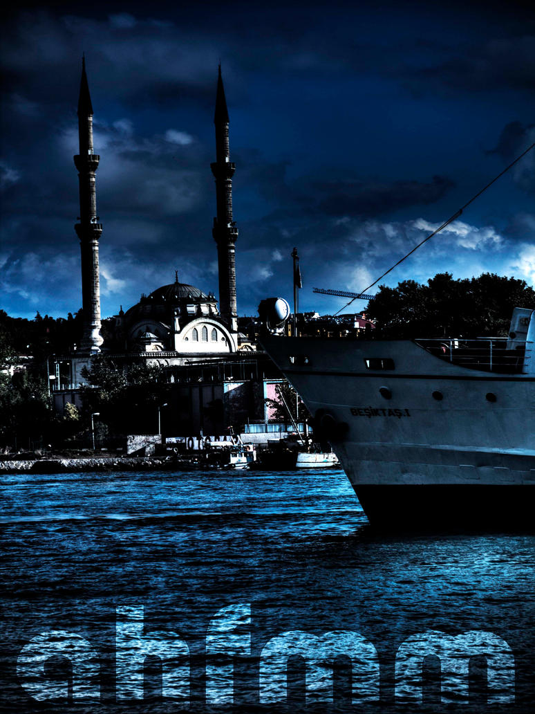 Mosque and Ferry in IstanbuL by ahfmm