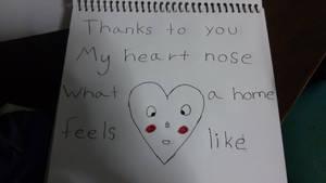 He nose....