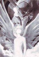 Kaworu con el Eva 01 by reith-iv