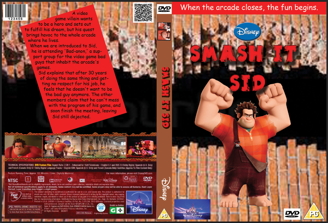 Smash-It Sid (Wreck-It Ralph) DVD cover by tombola1993