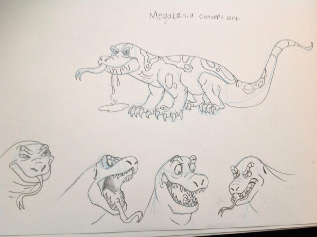 Megalania concept art by tombola1993