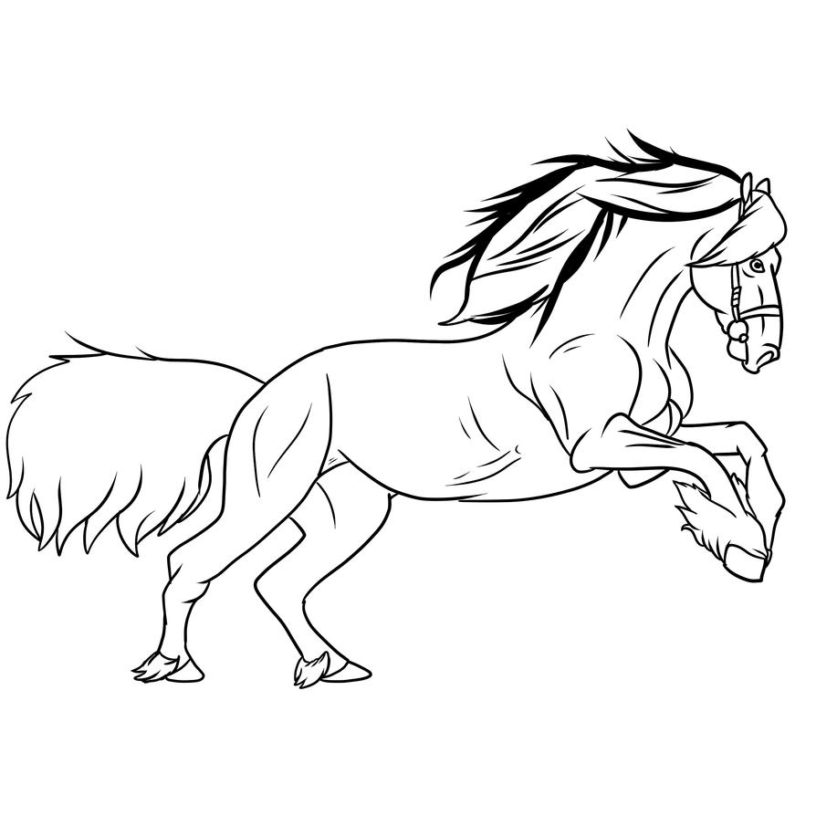 Arabian Horse Line Art by tombola1993