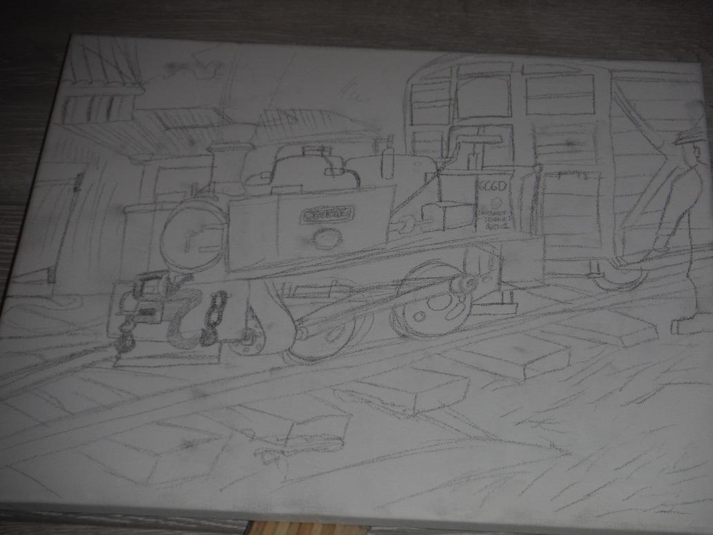 Steam Train Portrait (Work in Progress) by tombola1993