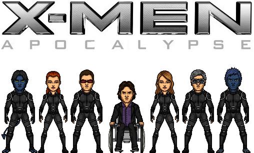 Professor-x And X-men (x-men Apocalypse) by doctorstrange7