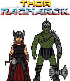 gladiator hulk and thor version 2.0 by doctorstrange7