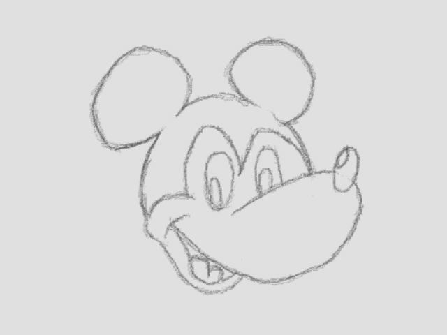 Line Drawing Mickey Mouse : Mickey mouse line drawing by spacetiredlife on deviantart