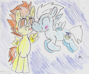 Gay birds horses by ptitemouette