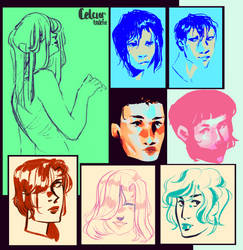assorted portraits by Indefie
