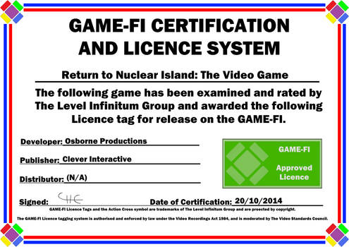 Return to Nuclear Island Game-Fi Certificate