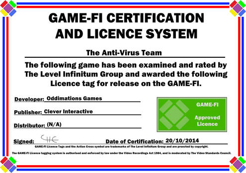 The Anti-Virus Team Game-Fi Certificate