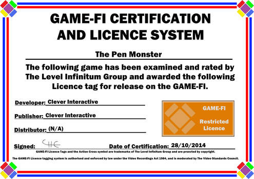 The Pen Monster Game-Fi Certificate