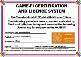 The Thunderbirds101 World Game-Fi Certificate