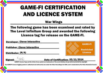 War Wings Game-Fi Certificate
