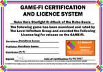 Neko Hero Starlight II Game-Fi Certificate