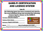 Tots TV Game-Fi Phase Two Certificate