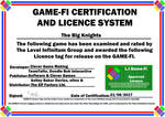 The Big Knights Game-Fi Phase Two Certificate