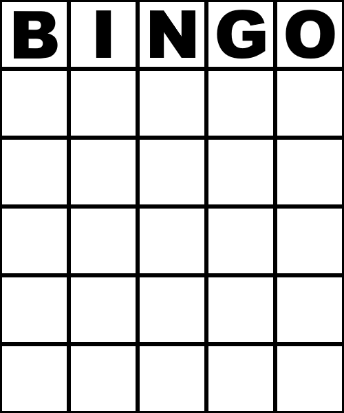 Blank Bingo Card - 75 number style (Colourless) by ...