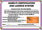Samurai Jack FB Game-Fi Phase Two Certificate