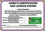 Follow That Bird Game-Fi Certificate