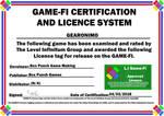 Gearonimo Game-Fi Certificate