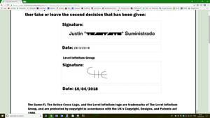 L.I Olympics Counter Signature