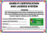 PHOZONE Game-Fi Certificate