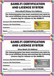 Drive Shaft Game-Fi X3 Certificate