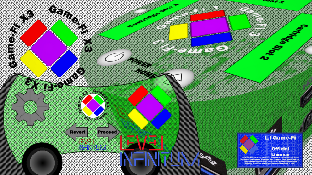 Game-Fi X3 - Translucent Green Box Art by LevelInfinitum