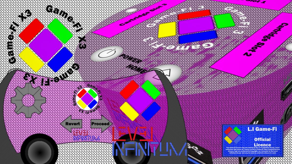 Game-Fi X3 - Translucent Pink Box Art by LevelInfinitum