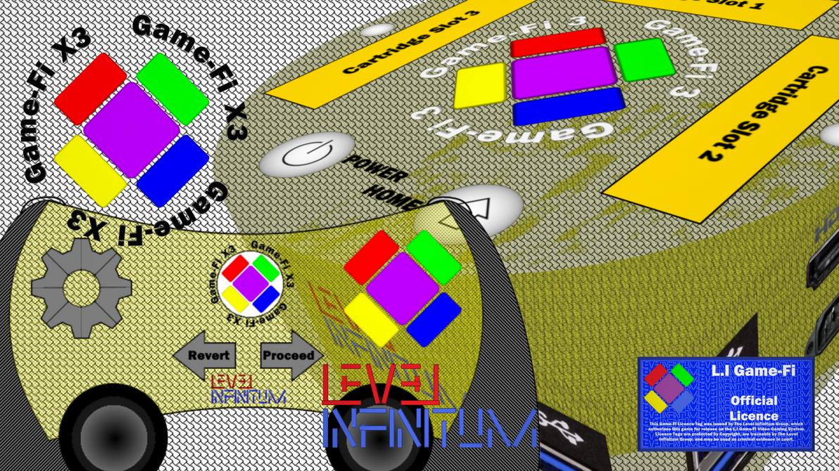 Game-Fi X3 - Translucent Yellow Box Art by LevelInfinitum
