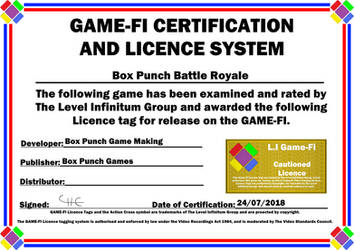Box Punch Battle Royale Game-Fi Certificate