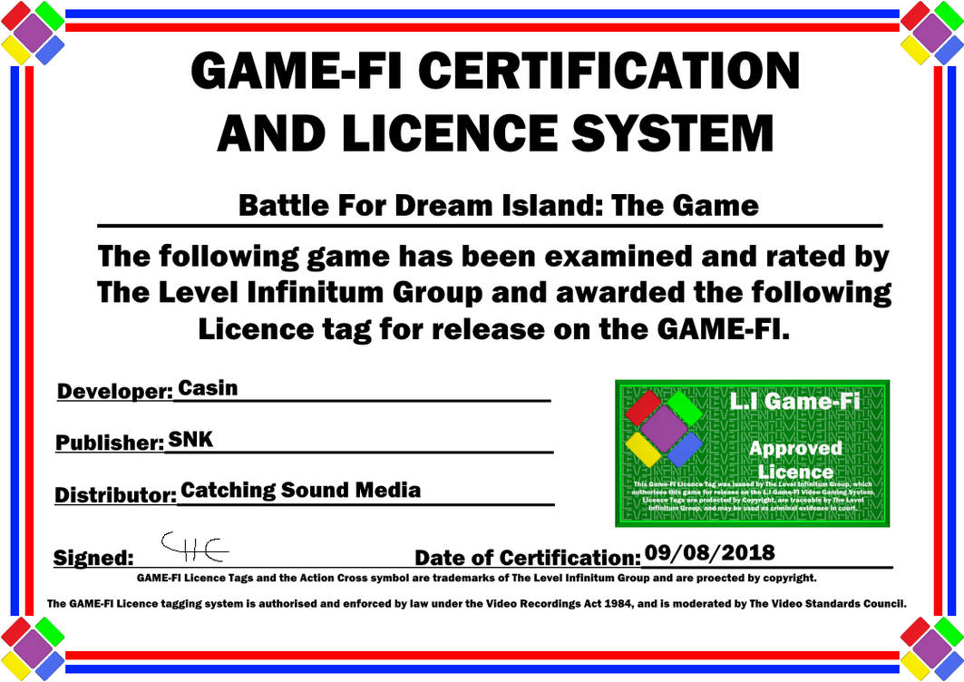 BFDI Game-Fi Certificate by LevelInfinitum on DeviantArt