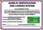 L.I Party Game-Fi Certificate