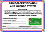 Gearonimo 4 Game-Fi Certificate by LevelInfinitum